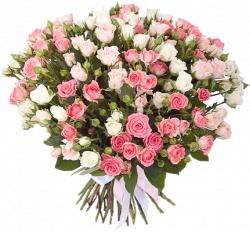 Букет роз спрей Лидия, Вайт Лидия, Грация 60 см – 39 шт