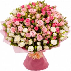 Букет роз спрей 60 см – 59 шт