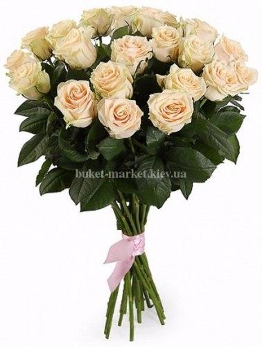 Букет кремовой розы Талея 21 шт, 80 см