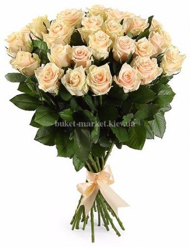 Букет кремовой розы Талея 25 шт, 80 см