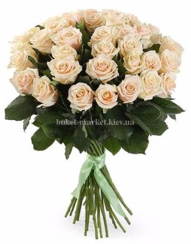 Букет кремовой розы Талея 35 шт, 70 см