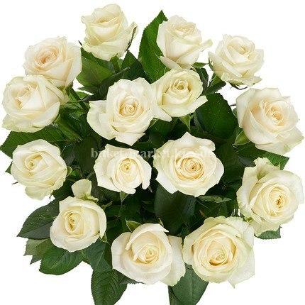 Букет белых роз Аваланч 19 шт, 50 см