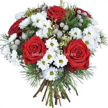 """Новогодний букет цветов """"На любой случай"""""""