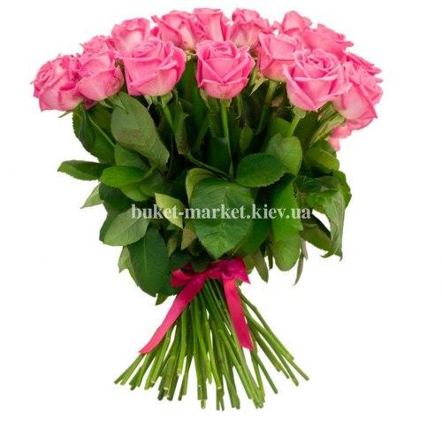 Букет из розовых роз Аква 51 шт, 70 см