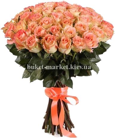 Букет роз Дует 50 см - 51 шт