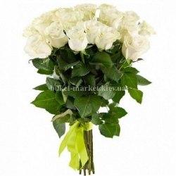 25 роз Мондиаль 90-100 см