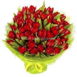 Букет пионовидных тюльпанов 85 шт