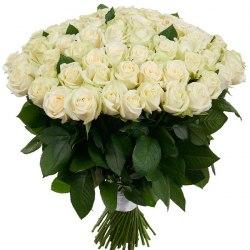 Букет из 101 белой розы - 60 см