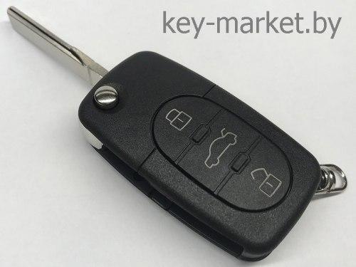 Ключ выкидной Audi 3 кнопки