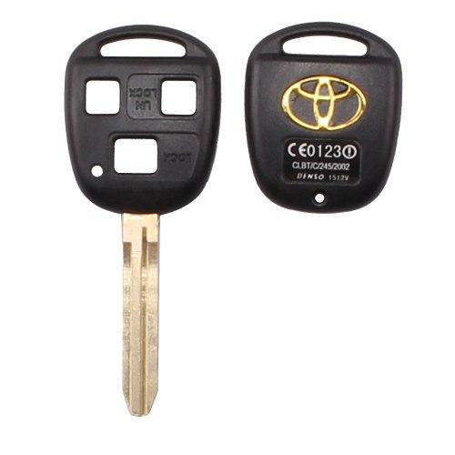Ключ (корпус) Toyota Camry Corolla Avensis Yaris Hiace 3 кнопки