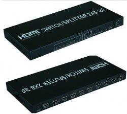HDMI 2-8 переключатель, сплиттер, свитчер (splitter, switcher) коммутатор