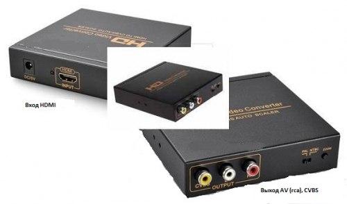 Переходник из HDMI в Тюльпаны AV Конвертер HDMI RCA (CVBS, композитный)