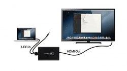 Переходник, кабель - Конвертер с USB на HDMI (Adapter)