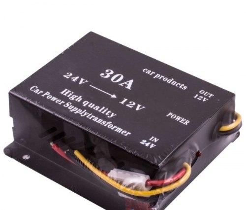 Преобразователь напряжения 24/12V 30A для автомобиля с 24 на 12 вольт
