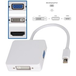 Thunderbolt Mini DisplayPort конвертер в HDMI, DVI и VGA