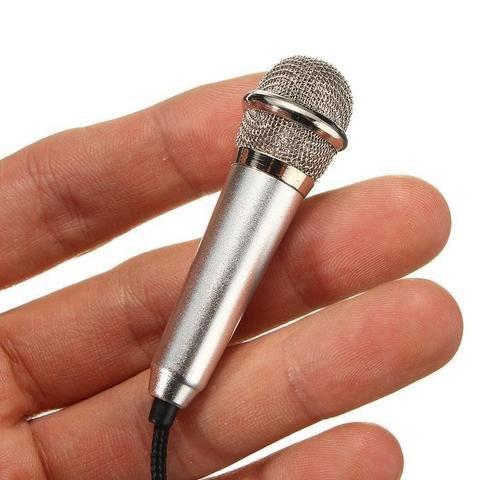 Мини-микрофон ручной караоке 3,5 мм для телефонов PC ноутбуков