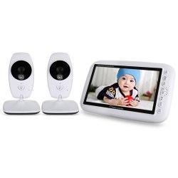 Видеоняня Smart Baby VB900 Видеоняня комплект 2-x беспроводных камер видеонаблюдения и приемника с экраном Wireless baby monitor 7 дюйма с ночником