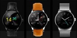 Умные часы Makibes K88H SMART WATCH черный кож ремень