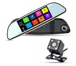 """Автомобильный видеорегистратор-зеркало XPX ZX857 с камерой заднего вида 7"""""""