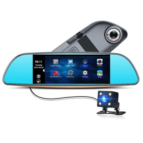 """Автомобильный видеорегистратор-зеркало XPX ZX867 с камерой заднего вида 7"""""""