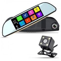 Автомобильный видеорегистратор-зеркало XPX ZX827 с камерой заднего вида