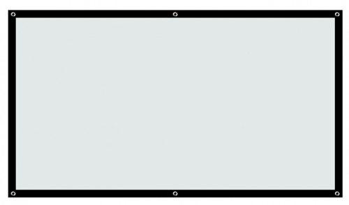 """Экран для проектора в тубусе 150"""" дюймовый 16/9"""