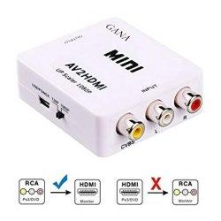 Конвертер преобразует AV (RCA)- HDMI AV2HDMI