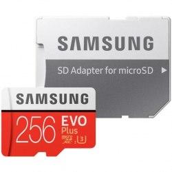 Карта памяти Samsung microSDXC EVO+ UHS-I U3 256GB Class10 (MB-MC256GA/RU)