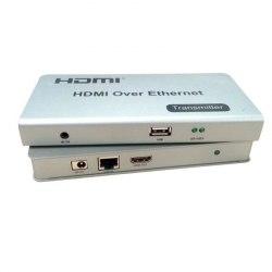 Удлинитель HDMI KVM 120 - HDMI+USB+IR(ик сигнал) KVM Extender по UTP HDMI KVM Over IP Extender 120m