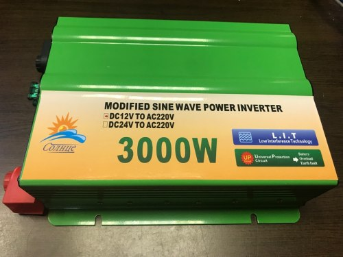 Инвертор 12-220V 3000W 12 на 220вольт 3000 Ват преобразователь напряжения TBF