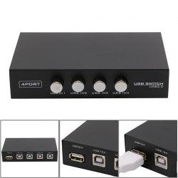 Переключатель USB USB свитч 1х4 (USB 2.0, 1 USB прибор х 4 ПК) 4 port usb switch