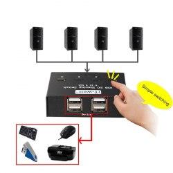 Переключатель USB свитч 4х4 (USB 2.0, 4 USB прибора х 4 ПК)
