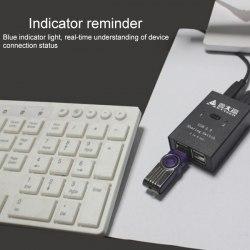Переключатель USB свитчер 4х2 (USB 2.0, 2 USB прибора х 2 ПК)