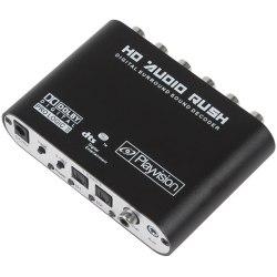 Аудио переходник (конвертер, адаптер) Из Цифровой Коаксиальный и Оптический Toslink на 5.1 или 2.1 аналоговый 6RCA (Digitall to Analog)