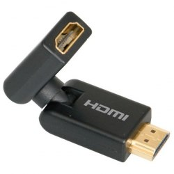 HDMI 360 вращающийся поворотный адаптер, адаптер трансформер 360 градусов HDMI M - HDMI F