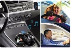 Беспроводной Bluetooth адаптер для Stereo Audio AUX с микрофоном