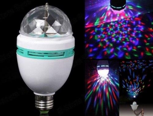 Диско лампа большая e27 многоцветная в обычный патрон