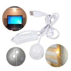 Мини USB LED лампа магнитная с коммутатором 3 Вт для компьютера и чтение книг