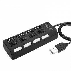 Концентратор (Hub) 4 USB 2.0 с индикацией 4 выхода
