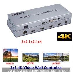 Контроллер видеостены - HDVW2x2UHD (Разрешение 4Kx2K - 2x2, 1x2, 1x4)