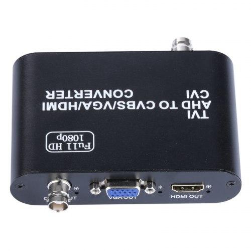 Конвертер AHD + TVI + CVI в HDMI + CVBS(AV) + VGA