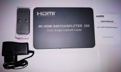 HDMI сплиттер/свитчер 2*6 по RJ45 и удлинитель 120m 4K 1080p (Splitter, Switcher, Extender)