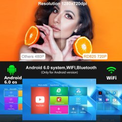 Проектор Rigal RD-825 Android 6.0 WiFi