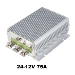 Преобразователь напряжения 24-30/12V 75A для автомобиля с 24 на 12 вольт
