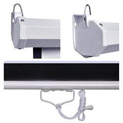 """Моторизированный экран для проектора с электроприводом белый матовый 72"""" дюйма 146*110 см с пультом ДУ"""