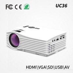 Портативный LED проектор Unic UC36 (HDMI / AV / USB / SD) (1000 люмен)