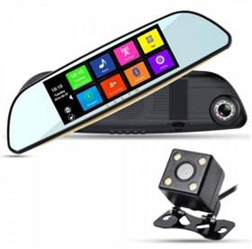 """Видеорегистратор в зеркале XPX ZX827 (5"""", с 2 камерами, WiFi Android 4.4)"""