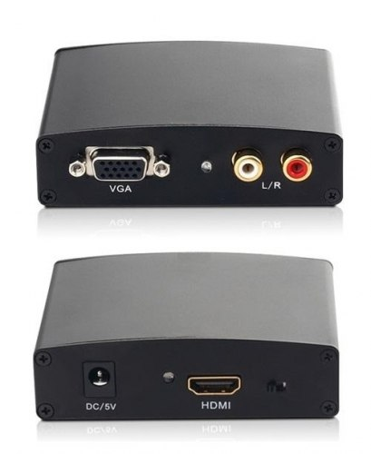 1080P HDMI в VGA converter HDMI в VGA+R/L Audio конвертер