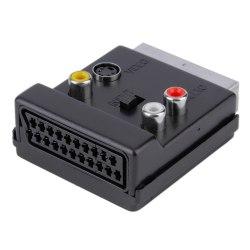 Переходник Scart к Scart + S-Video + 3 RCA Адаптер с переключателем вход - выход