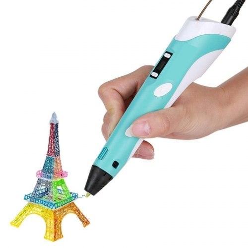 3D ручка 3DPen-2 с LCD дисплеем, розовый